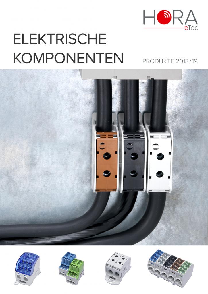 Titelseite des Produktkatalogs Elektrische Komponenten